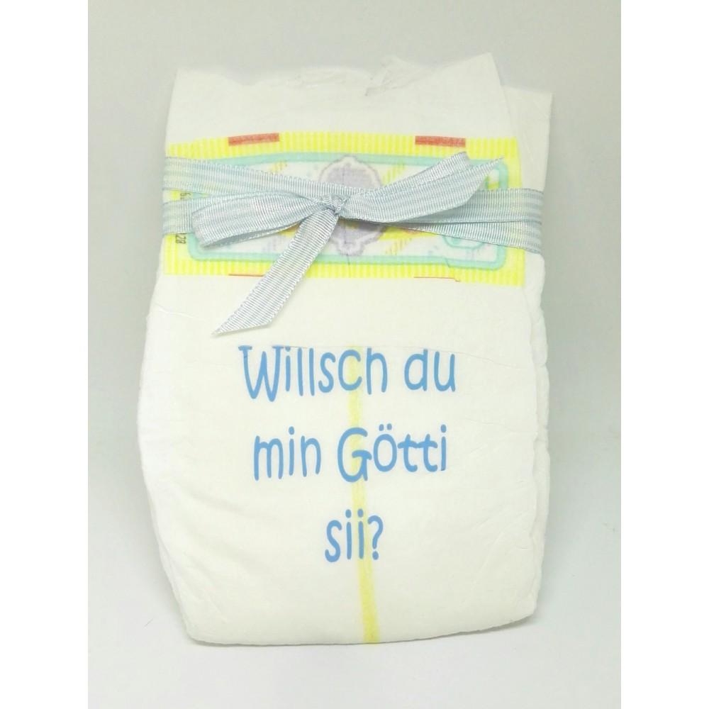 Windel Hellblau - Willsch du min Götti sii?