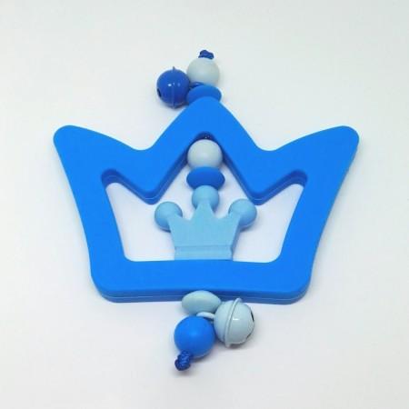 Silikon Greifling, Blau Krone