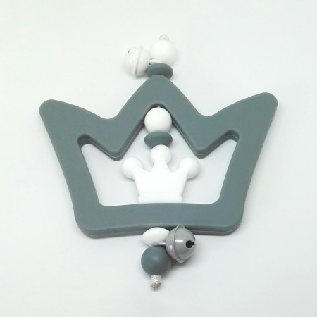 Silikon Greifling, Grau Krone