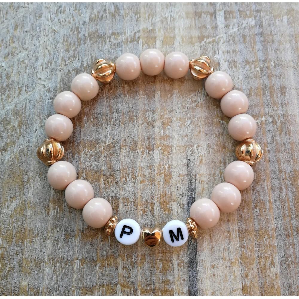 Mommy Armkette Lachs - Initialen